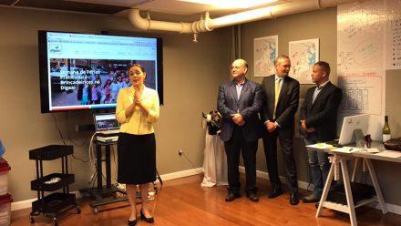 Abertura da Cerimônia - Consul do Brasil em Boston Sra. Glivânia Oliveira