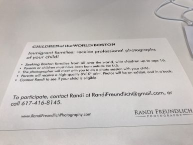 Children of the World/Boston - Photographer Randi Freundlich - 2