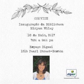 Convite - Inauguração da Biblioteca Miryam Wiley