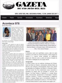 Matéria de Cobertura do Evento - Gazeta de São João Del Rei