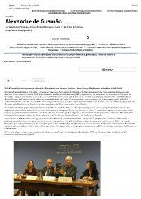 Lancamento do Livro Brasileiros nos Estados Unidos - Materia no site da FUNAG