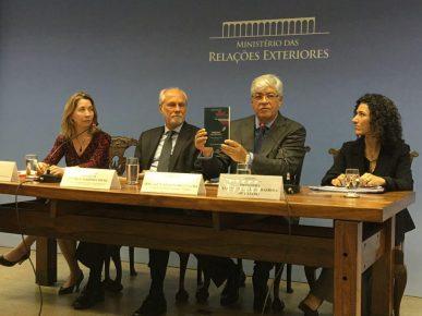 Secretaria Luiza Lopes, Embaixador Henrique Sardinha, Embaixador Sérgio Moreira Lima, Presidente da FUNAG & Alanni Castro