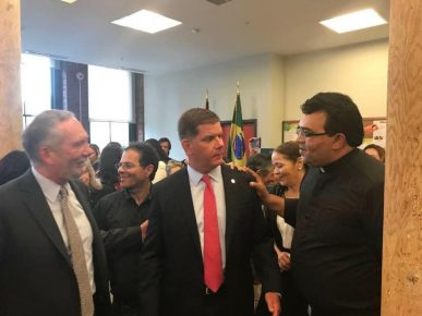 Alvaro Lima, Mayor Walsh & Padre Eduardo
